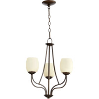 Quorum International Willingham 3 Light Chandelier in Oiled Bronze 6012-3-86