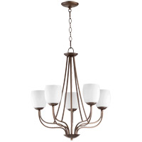 Willingham 23 inch Oiled Bronze Chandelier Ceiling Light in Satin Opal, Satin Opal
