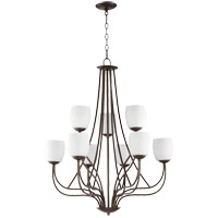 Willingham 30 inch Oiled Bronze Chandelier Ceiling Light in Satin Opal, Satin Opal