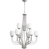 Quorum International Willingham 9 Light Chandelier in Classic Nickel 6012-9-64