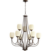 Quorum International Willingham 9 Light Chandelier in Oiled Bronze 6012-9-86
