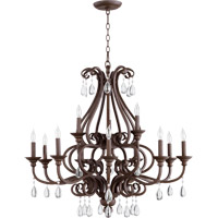 Quorum International Anders 12 Light Chandelier in Oiled Bronze 6013-12-86
