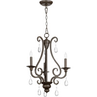 Quorum 6013-3-86 Anders 3 Light 19 inch Oiled Bronze Chandelier Ceiling Light