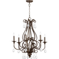 Quorum 6013-6-86 Anders 6 Light 25 inch Oiled Bronze Chandelier Ceiling Light
