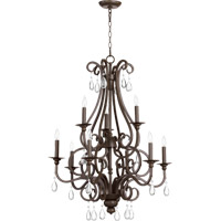 Quorum 6013-9-86 Anders 9 Light 28 inch Oiled Bronze Chandelier Ceiling Light