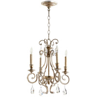 Quorum 6014-4-60 Ansley 4 Light 16 inch Aged Silver Leaf Chandelier Ceiling Light