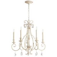 Quorum 6014-5-70 Ansley 5 Light 24 inch Persian White Chandelier Ceiling Light