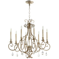 Quorum 6014-8-60 Ansley 8 Light 29 inch Aged Silver Leaf Chandelier Ceiling Light