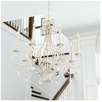 Quorum 6014-8-60 Ansley 8 Light 29 inch Aged Silver Leaf Chandelier Ceiling Light alternative photo thumbnail