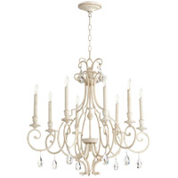 Quorum 6014-8-70 Ansley 8 Light 29 inch Persian White Chandelier Ceiling Light