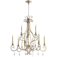 Quorum 6014-9-60 Ansley 9 Light 31 inch Aged Silver Leaf Chandelier Ceiling Light