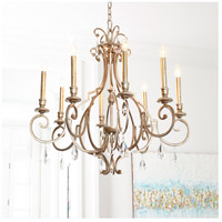 Quorum 6014-9-60 Ansley 9 Light 31 inch Aged Silver Leaf Chandelier Ceiling Light alternative photo thumbnail