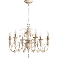 Quorum 6016-6-70 Salento 6 Light 25 inch Persian White Chandelier Ceiling Light