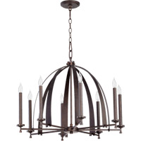Quorum International Gateway 8 Light Chandelier in Sepia 6019-8-84