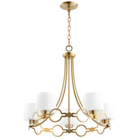 Durand 5 Light 24 inch Aged Brass Chandelier Ceiling Light