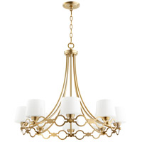Quorum 6021-8-80 Durand 8 Light 31 inch Aged Brass Chandelier Ceiling Light
