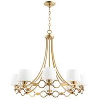 Quorum 6021-8-80 Durand 8 Light 31 inch Aged Brass Chandelier Ceiling Light