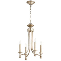 Quorum 6022-4-60 Rossington 4 Light 14 inch Aged Silver Leaf Chandelier Ceiling Light