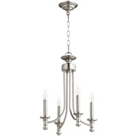 Quorum 6022-4-65 Rossington 4 Light 14 inch Satin Nickel Chandelier Ceiling Light