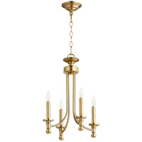 Quorum 6022-4-80 Rossington 4 Light 14 inch Aged Brass Chandelier Ceiling Light