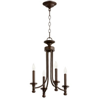 Quorum 6022-4-86 Rossington 4 Light 14 inch Oiled Bronze Chandelier Ceiling Light