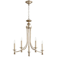 Quorum 6022-5-60 Rossington 5 Light 22 inch Aged Silver Leaf Chandelier Ceiling Light