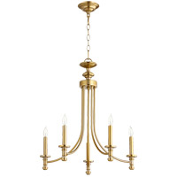 Quorum 6022-5-80 Rossington 5 Light 22 inch Aged Brass Chandelier Ceiling Light