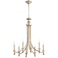 Quorum 6022-8-60 Rossington 8 Light 25 inch Aged Silver Leaf Chandelier Ceiling Light