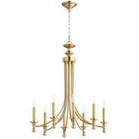 Quorum 6022-8-80 Rossington 8 Light 25 inch Aged Brass Chandelier Ceiling Light