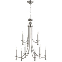 Quorum 6022-9-165 Rossington 9 Light 27 inch Satin Nickel Chandelier Ceiling Light