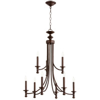 Quorum 6022-9-186 Rossington 9 Light 27 inch Oiled Bronze Chandelier Ceiling Light