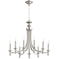 Quorum 6022-9-65 Rossington 9 Light 27 inch Satin Nickel Chandelier Ceiling Light
