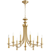 Quorum 6022-9-80 Rossington 9 Light 27 inch Aged Brass Chandelier Ceiling Light