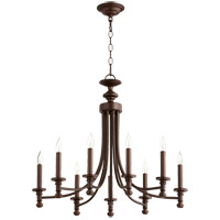 Quorum 6022-9-86 Rossington 9 Light 27 inch Oiled Bronze Chandelier Ceiling Light