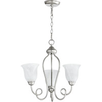 Quorum International Maris 3 Light Chandelier in Classic Nickel 6027-3-64