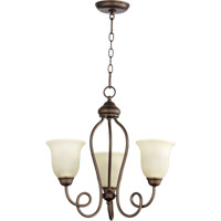 Quorum International Maris 3 Light Chandelier in Oiled Bronze 6027-3-86