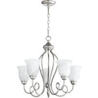 Quorum International Maris 5 Light Chandelier in Classic Nickel 6027-5-64