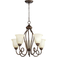 Quorum International Maris 5 Light Chandelier in Oiled Bronze 6027-5-86