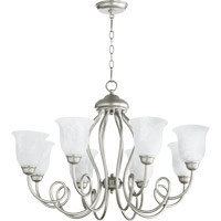 Quorum International Maris 8 Light Chandelier in Classic Nickel 6027-8-64