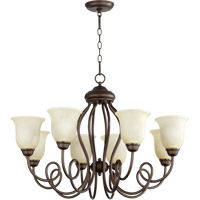 Quorum International Maris 8 Light Chandelier in Oiled Bronze 6027-8-86