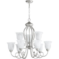 Quorum International Maris 9 Light Chandelier in Classic Nickel 6027-9-64
