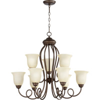 Quorum International Maris 9 Light Chandelier in Oiled Bronze 6027-9-86