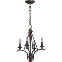 Quorum 6029-4-86 Winslet 4 Light 15 inch Oiled Bronze Chandelier Ceiling Light