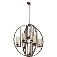 Quorum International Julian 10 Light Chandelier in Oiled Bronze 603-10-86
