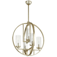 Quorum 603-5-60 Julian 24 inch Aged Silver Leaf Chandelier Ceiling Light, Clear Seeded