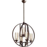 Quorum 603-5-86 Julian 5 Light 24 inch Oiled Bronze Chandelier Ceiling Light