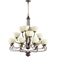 Quorum International Lariat 16 Light Chandelier in Oiled Bronze 6031-16-86
