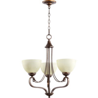Quorum 6031-3-86 Lariat 3 Light 21 inch Oiled Bronze Chandelier Ceiling Light