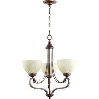 Quorum 6031-3-86 Lariat 3 Light 21 inch Oiled Bronze Chandelier Ceiling Light
