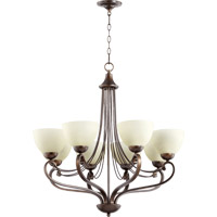 Quorum 6031-8-86 Lariat 8 Light 30 inch Oiled Bronze Chandelier Ceiling Light